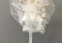 "Are you Saying Yes to the Dress? #3, mixed media object, 10"" x 4"" x 4"""